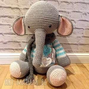 Prezent Słoń gigant - szydełkowy przyjaciel Twojego dziecka, prezent, chrzciny
