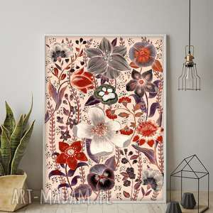 prezent na święta, kwiaty a1, plakat, sztuka, kwiaty, obraz, grafika