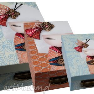 komplet 3 pudełek namika, pudełko, kimmidoll, pakowanie dom