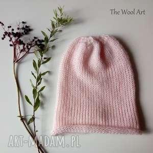 dla dziecka dziecięca czapka, czapa, na głowę, drutach, jesienna