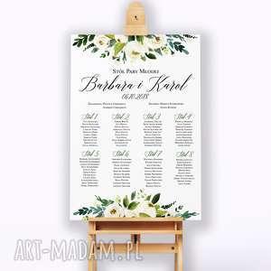 Obraz na płotnie 50x70 - plan stołów ślub kreatywne wesele