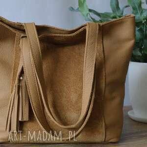 oryginalny prezent, juti bags camelowa tote bag, torba tote, modna