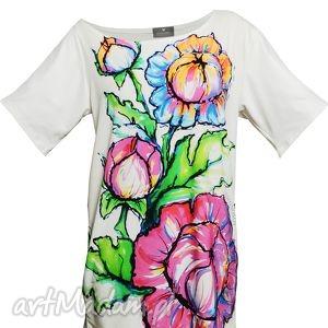Pomona - Kwiatowy t-shirt, bluzka, tunika, kwiatowa
