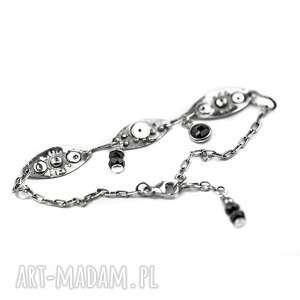 ręczne wykonanie bransoletka srebrna ze spinelem