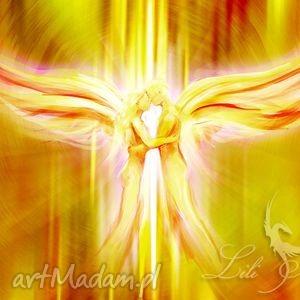 liliarts obraz energetyzujący - anioły miłości płótno, obraz, anioł