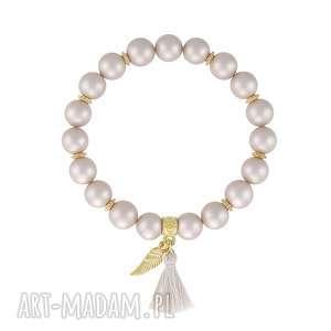 BRANSOLETKA z perły Majorki - PEARLY CHIC - ,perły,perła-majorka,chwost,