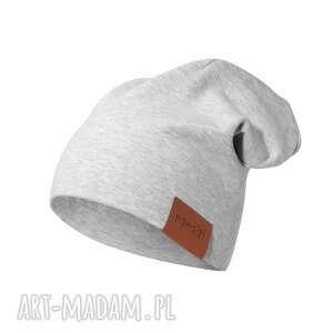 ręcznie wykonane czapka podwójna szara