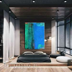 hand-made dekoracje nadmorska fantazja - abstrakcyjne obrazy do modnego salonu
