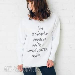 bluzy simple person bluza oversize, bluza, bawełna, moda, casual, biały
