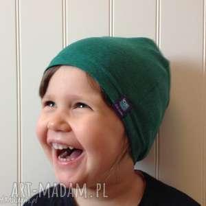 zielona czapka bawełniana, dziecko, dzieci, czapka, czapa, niemowlę, niemowlak