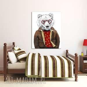 obraz na płótnie - 60x80cm niedźwiedź 02219 wysyłka w 24h, niedźwiedź