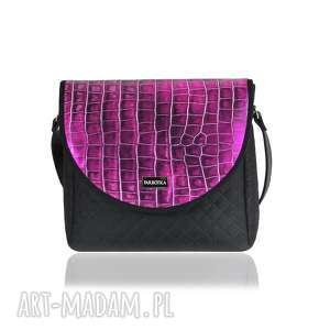 ca4be3e6f8429 niekonwencjonalne torebki - workowata torba w kolorze złamanej