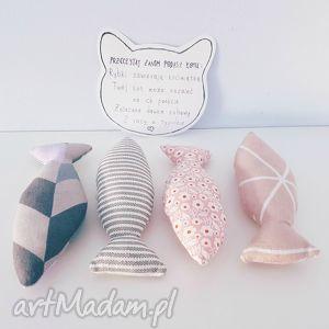 handmade zwierzaki zestaw rybek z kocimiętką zabawka kota
