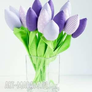 tulipany bukiet 14 sztuk bawełnianych kwiatów - tulipany z materiału