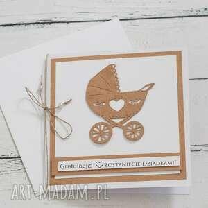 kartka gratulacje zostaniecie dziadkami, gratulacyjna, eko
