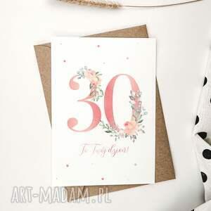 kartki kartka urodzinowa na 30 urodziny cardie, kartka