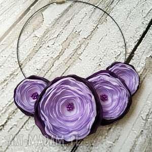 Fioletowy naszyjnik z kwiatów kwiatowa kolia, kwiaty, naszyjnik, biżuteria