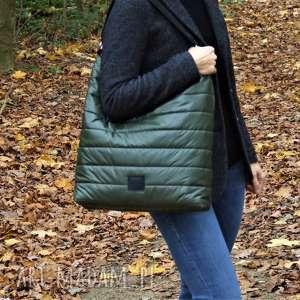 duży worek xl pikowany, torba, torba na ramię, duża prezent