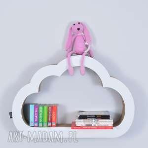 handmade pokoik dziecka półka na książki zabawki chmurka ecoono | biały