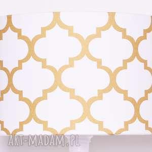 abażur fresh gold 40x40x25cm, abażur, duży wiszący, koniczyna