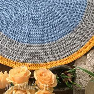 Dywan ślimak multicolor - 120 cm motkovo dywan, na szydełku