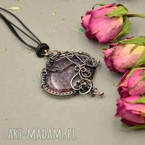 Prezent Violet - naszyjnik z agatem smoczym, naszyjnik-z-wisiorem, agat