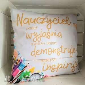 ręcznie zrobione poduszki poduszka dla nauczyciela