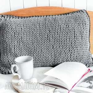 handmade poduszki poduszka 60x40 cm ze sznurka bawełnianego