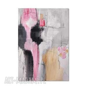 obrazy quarry /2/ abstrakcja, nowoczesny obraz ręcznie malowany