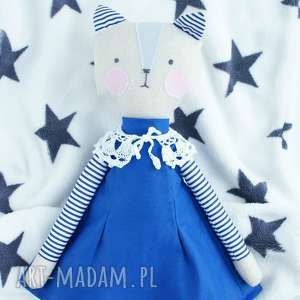 kuferek malucha lalka przytulanka kotek, lalka, przytulanka, skandynawski