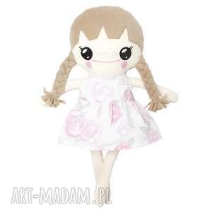 Bawełniana Lalka LALALILA - Poofy Cat, lalka, laleczka, lala, różowa, róże, warkocz
