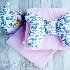komplet dziecięcy minky pościel gratis kostka sensoryczna - łóżeczko