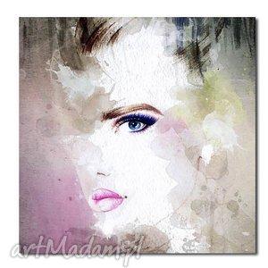obraz xxl kobieta 5 - 80x80cm obraz na płótnie - obraz, kobieta, płótno