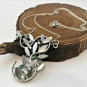 oryginalne prezenty, jachyra jewellery dary lasu, las, natura, szmaragdy, liście