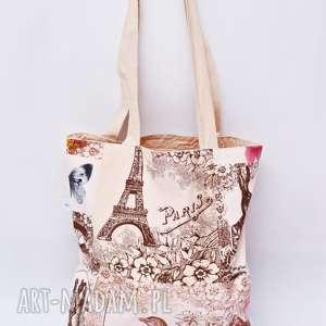 ręcznie robione torba na zakupy shopperka ekologiczna zakupowa ramię bawełniana siatka