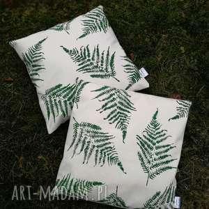 Poszewka na poduszkę 50cmx50cm - ,poszewka,poduszka,las,nadruk,paproć,skandynawski,