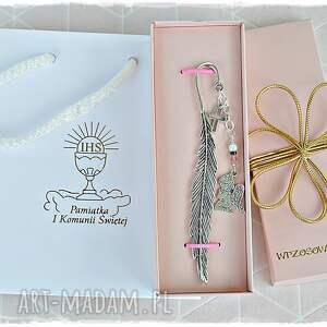 hand-made święta prezenty prezent na komunię św. Dla dziewczynki - zakładka do pisma