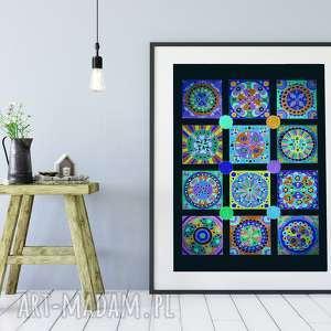 Mozaika 50x70cm, plakat, mozaika, sztuka, obraz, grafika