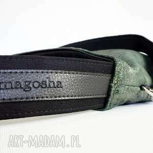 hand-made na ramię hobo xxl z rączką seria dotyk kolor malachit