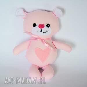 Miś Kuleczka - Różyczka 26 cm , miś, maskotka, przytulanka, roczek, chrzciny