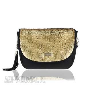 ręcznie robione torebki torebka puro view 2310 sequins dark gold