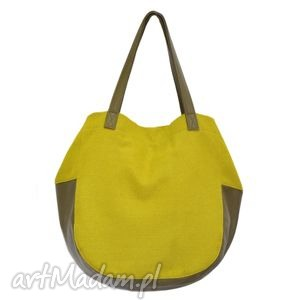 24-0010 Zielona torebka damska worek / torba na studia SWALLOW, duże, modne, torebki