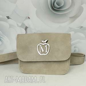 ręczne wykonanie mini manzana torebka elegancka kopertówka / nerka taupe