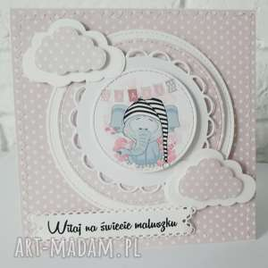 scrapbooking kartki kartka z okazji narodzin dziecka, personalizacja, dziecko