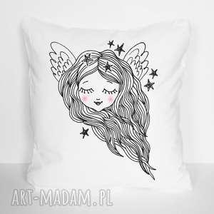 Poszewka na poduszkę bawełniana anioł 40 x 40, poszewka, poduszka, anioł, aniołek