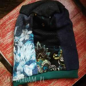 Czapka damska szyta patchworkowo styl boho czapki ruda klara