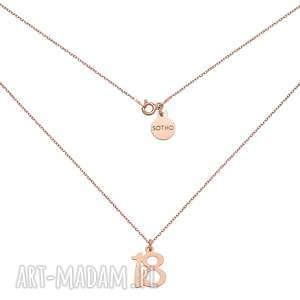 ręcznie wykonane naszyjniki naszyjnik z różowego złota