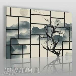 obraz na płótnie - japonia drzewo okno 120x80 cm 58701, japonia, orientalny