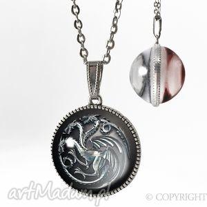 Kulisty dwustronny medalion Gra o Tron Targaryen - 0240-41SPS, gra, tron, smoki