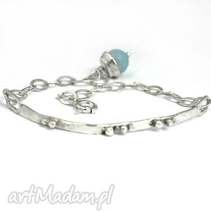 Kwarc, bransoletka, srebrna, delikatna, minimalistyczna, kwarc